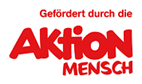 Logo Aktion Mensch. Text: Gefördert durch die Aktion Mensch.