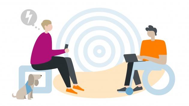 Illustration: Beratungssituation in der Onlineberatung